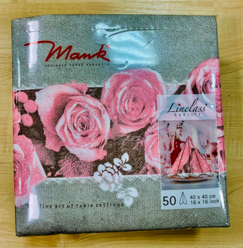 Mank Airlaid Servietten 40 x 40 cm Lovely Rose