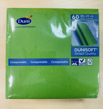 Dunisoft  Joy Servietten 40 x 40 cm Leaf Green